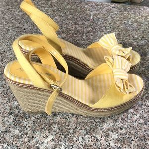 Shoes - Yellow espadrille wedges